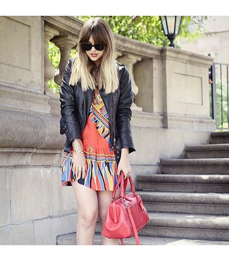Lateafternoon is wearing: Kenneth Cole bag, AllSaints jacket, Lovers+Friends dress.