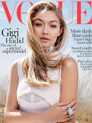 Gigi Hadid Glows On The Cover Of Vogue Australia