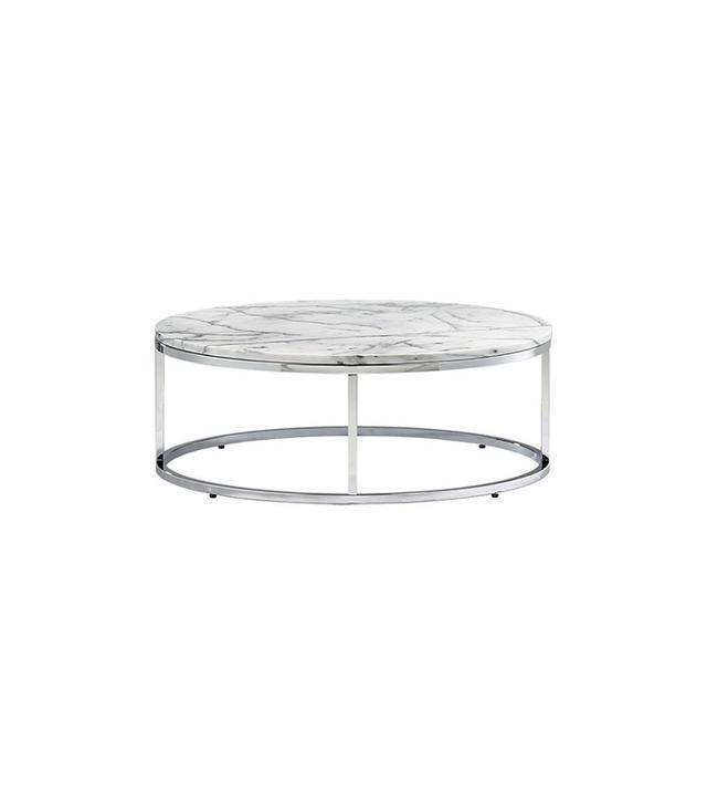 cb2 white round table