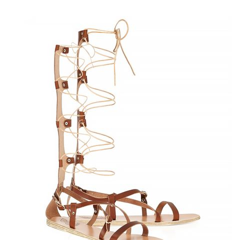Brown Leather High Sofia Sandals