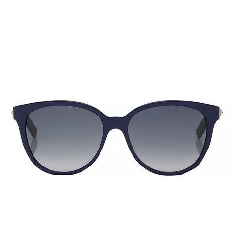 Blue and Glitter Acetate Framed Sunglasses