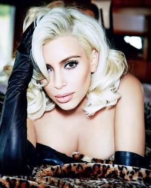Kim Kardashian Is A Blonde Bombshell For Vogue Brazil