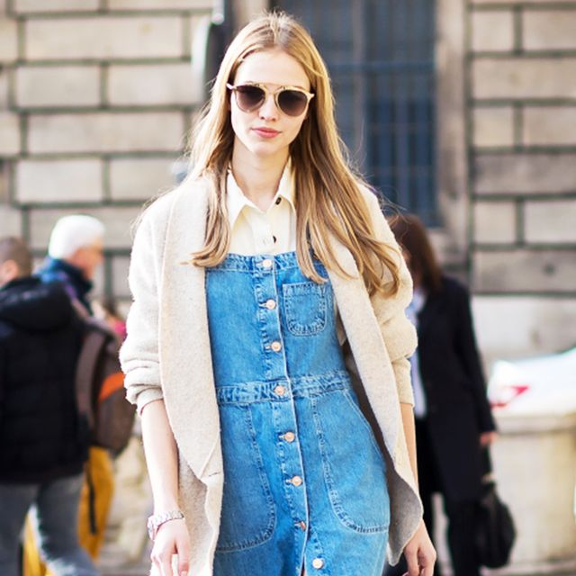 How to Style a Denim Dress Like a Street Style Star