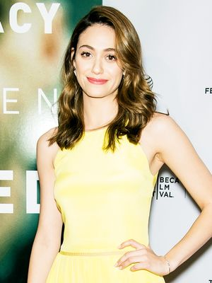 Look We Love: Emmy Rossum's Sweet and Feminine Midi Dress
