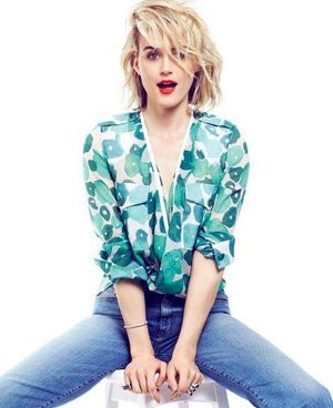 Taylor Schilling Is Cool in Denim and Florals for Elle Canada