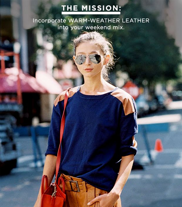 How To Recreate This Adorable Warm-Weather Leather Look
