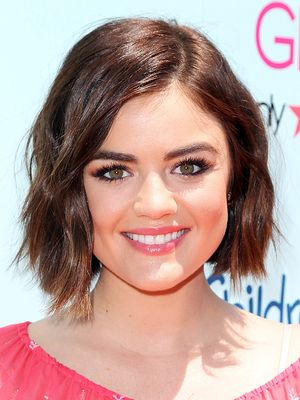 Lucy Hale Pairs Coral Lip Gloss With a Beachy Bronze Glow