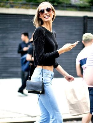 Model-Off-Duty Style: Copy Karlie Kloss' Casual Cool Flared Jeans Look