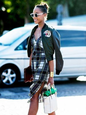 How to Make Your Plaid Dress Feel Summer-Appropriate