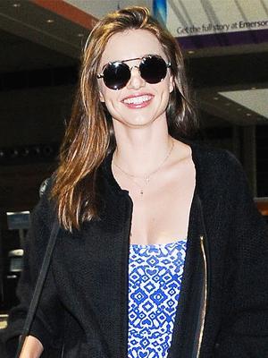 Miranda Kerr Perfectly Styles a $10 H&M Dress at the Airport