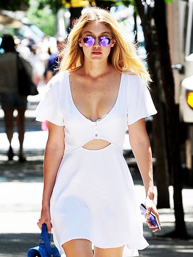 Leave It To Gigi Hadid To Make A T Shirt Dress Look This