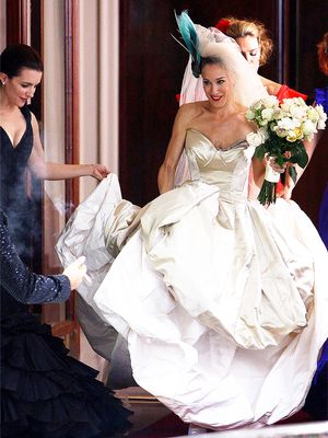 The 7 Emotional Stages of Buying a Wedding Dress