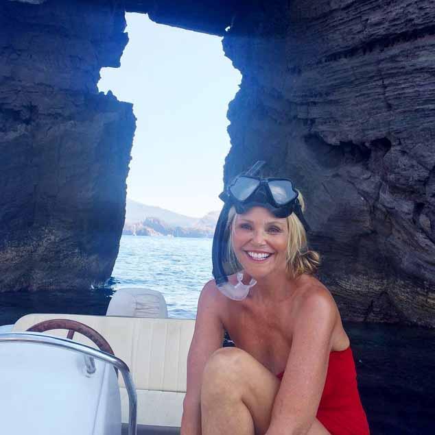 Christie Brinkley on the Amalfi Coast