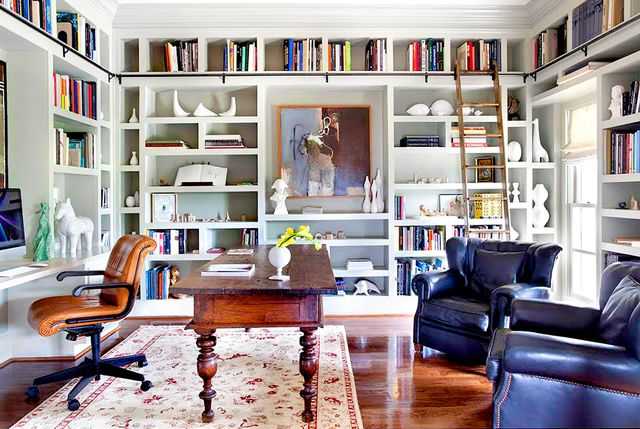 """I am a collector of many things, one of which is books. So for me bookshelves are a chance to display several collections and art. When styling, think balance. Use pieces with a variety of..."