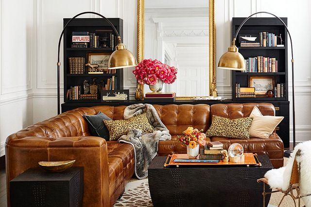 The couch is made from full-grain Italian leather.  Can't wait until August 12 to get your animal-print fix? Pottery Barn'sleopard jacquard bath towelsare on sale. Get...