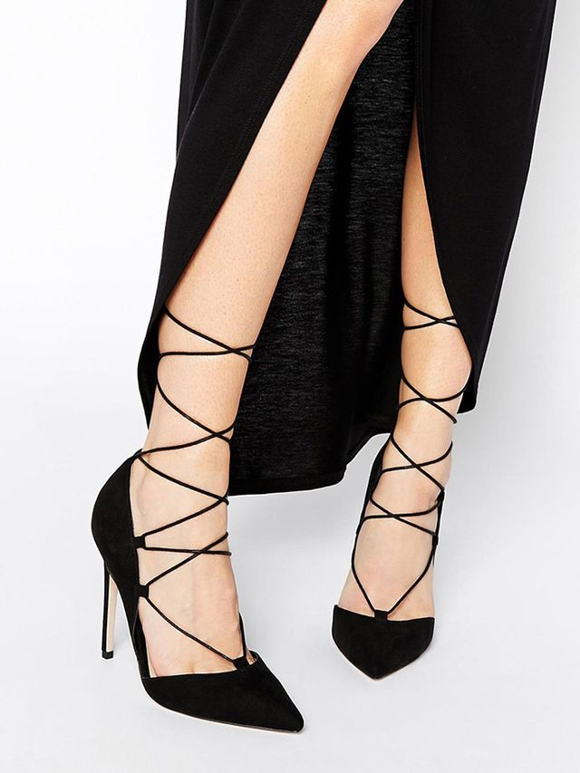 High Heel Lace Up Shoes