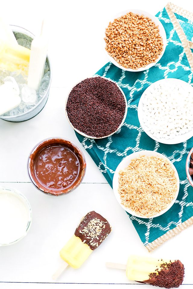 """""""I melted milk chocolate and white chocolate for easy and delicious dipping! I also recommend thinning both chocolate dips with a few teaspoons of cooking oil. Just pour it over the chocolate..."""
