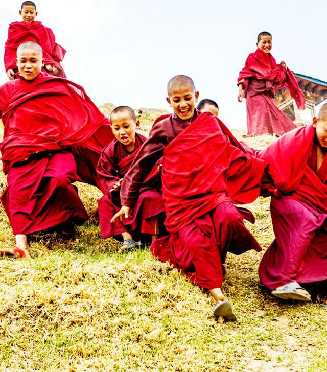 Young Monks in Bhutan