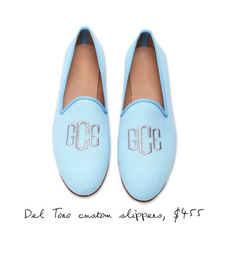 Del Toro Women's Custom Slippers with Custom Monogram