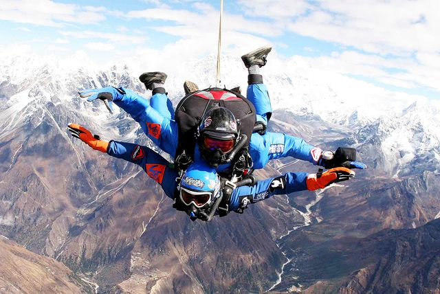 Skydiving Over Mount Everest, Nepal