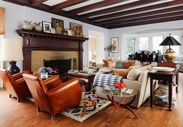 """""""Once renovations were done, we took artistic license to modernize the spaces to meet the demands of our family,"""" says Morton. """"There's a great mix of old and new,..."""