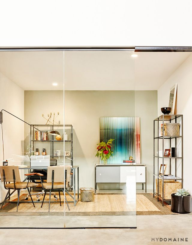 """We wanted the vibe for our office to be eclectic in style, and given our relocation to the Arts District, a key aspect to our design was to be able to showcase the works of local..."
