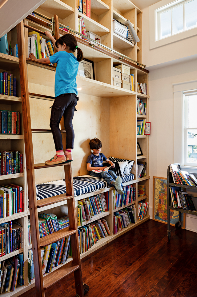 And let's not forget how incredibly fun ladders can be for kids. Picking out a nighttime read is all of a sudden a ritual to look forward to.