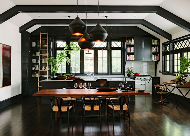 The storage in this small Portland kitchen was instantly expanded when its owner could acess high shelves.