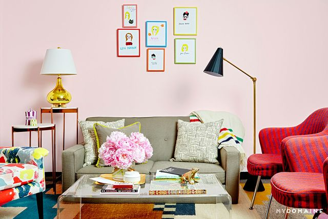 One of our favorite moments is her collection of colorfully framed drawings by artist Grace Miceli, who she discovered through Laia Garcia, the associate editor of Dunham and Konner's...