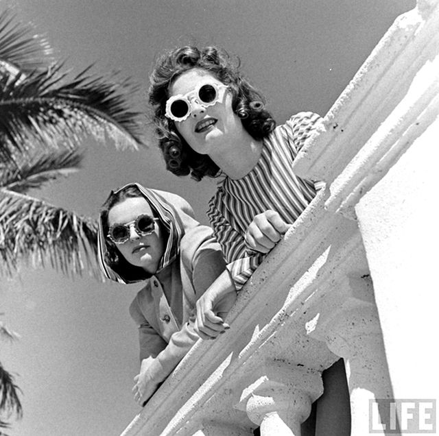 We spy with our little eyes the cutest statement sunnies around. Miami Beach circa 1940 was all see-and-be-seen style.