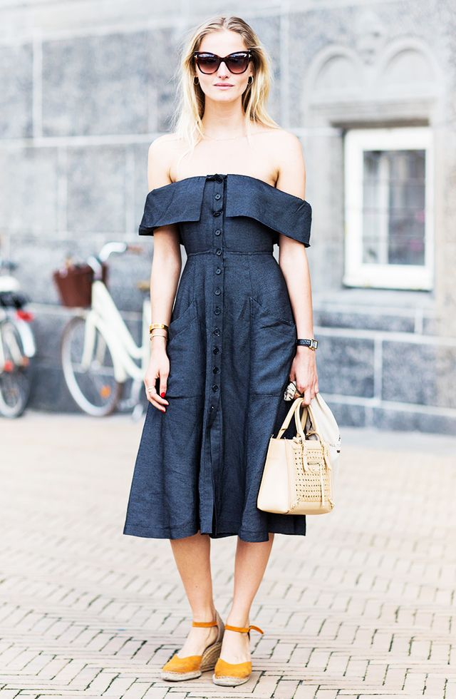 On Norgaard: Reformation dress.