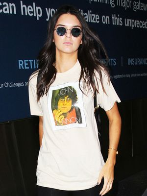 Kendall Jenner Nails Comfortable-Cool at the Airport