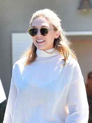 Elizabeth Olsen Makes a Turtleneck Work for Summer