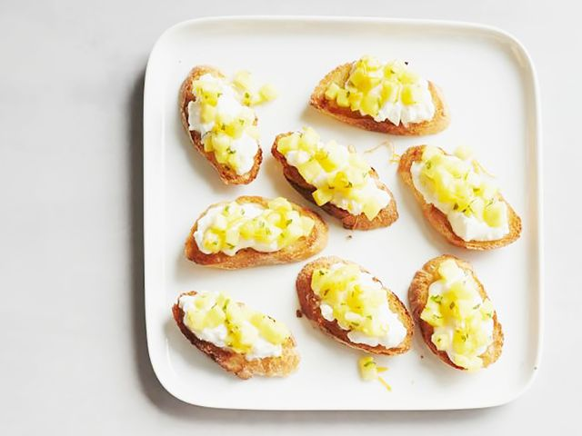 Pineapple-Orange Crostini