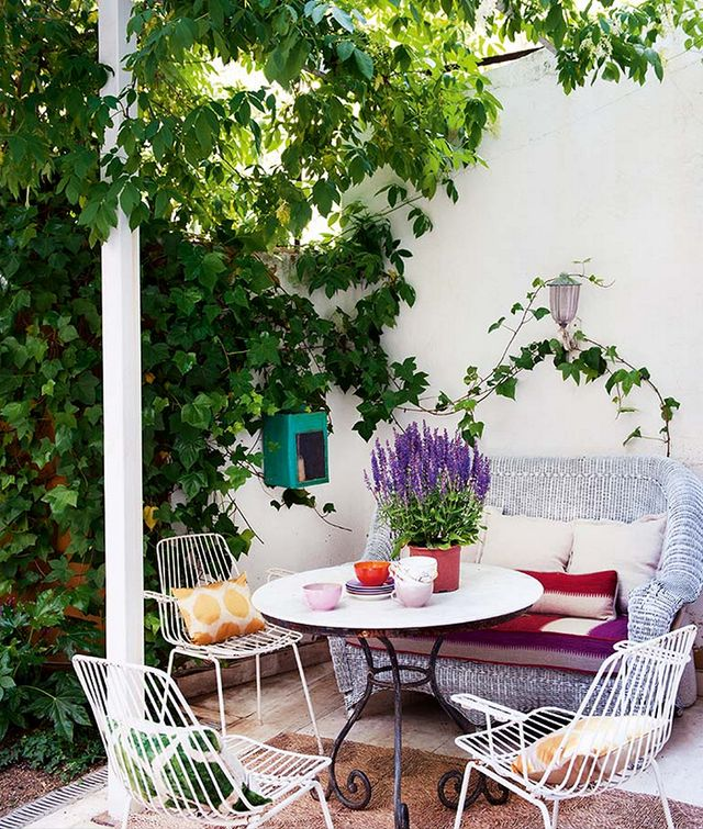 Plenty of color and thriving plants bring this outdoor dining space in Madrid to life.<br /><br />Which is your favorite? Tell us in the comments.<br />