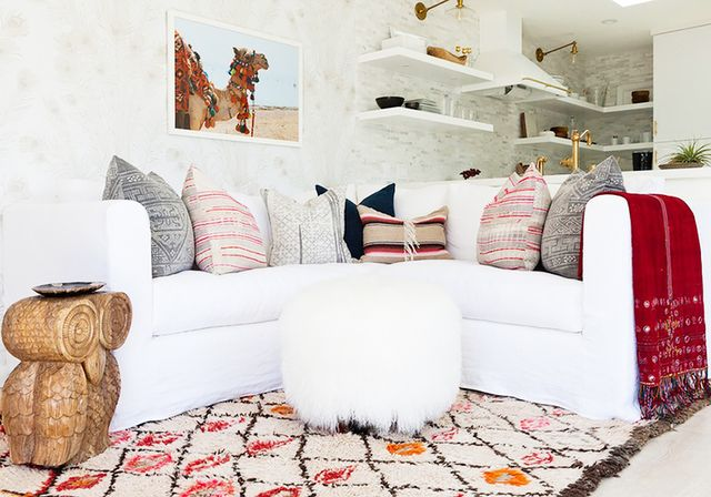 Pattern is a great way to break up neutral palettes. You can stay within your chosen color wheel; just throw some similarly toned, textured, and patterned pillows or a rug in the mix to keep...