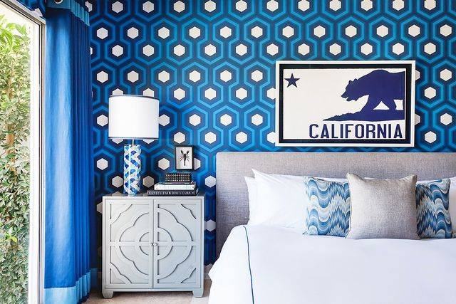 If you're still a little intimidated by pattern, test out your favorite looks in your bedroom. If anything goes wrong, this is the least likely place for visitors to see, which means you can...