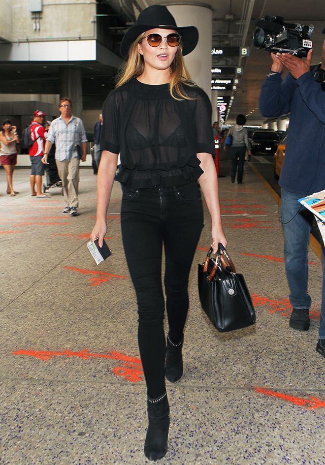 The Comfy Shoes Celebs Wear To The Airport Whowhatwear Uk