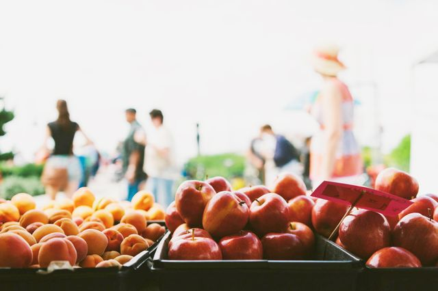 Visit the farmers market.