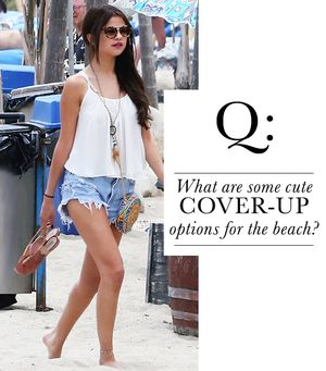 What are some cute cover-up options for the beach?
