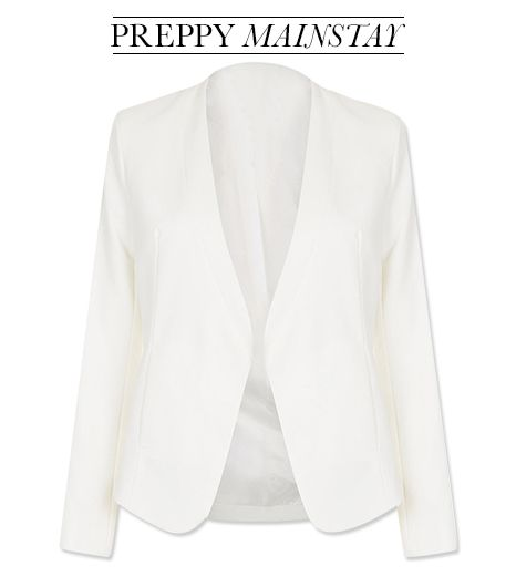 It's helpful to have a blazer on hand, especially if you move from outside to the more formal realm of the clubhouse.