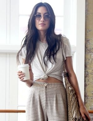 Model-Off-Duty Style: Jessica Mau Masters a Boho Coffee-Run Look