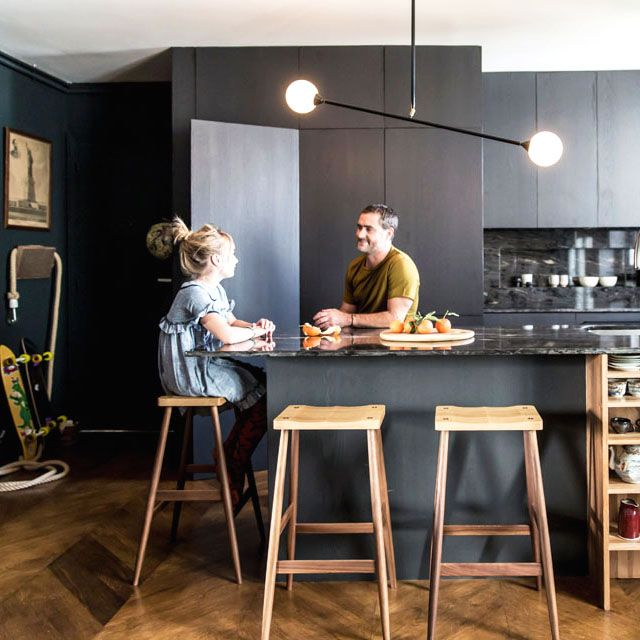 Tour a Single Dad's Moody and Masculine French Apartment