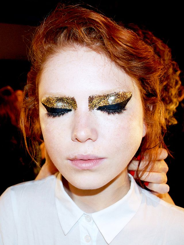 Seen at NYFW: A Heavy-Metal Eye Look We Want to Rock Right Now