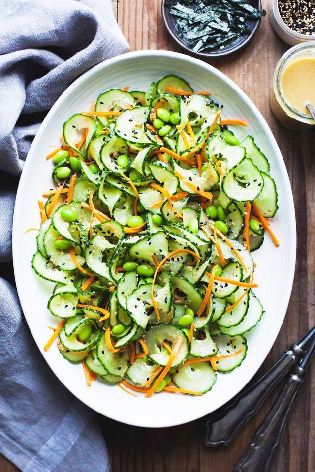 Sesame Ginger Cucumber Salad