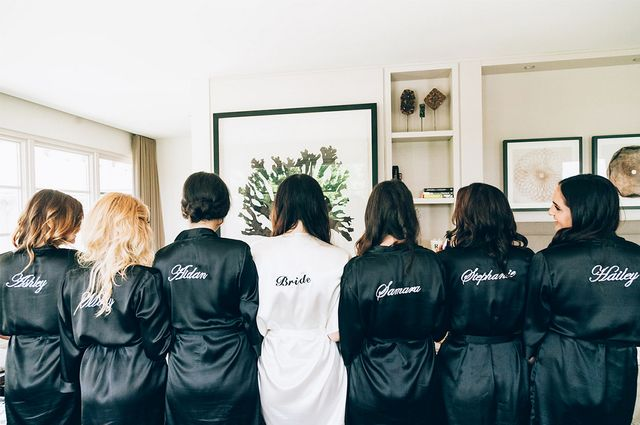 While her mom orchestrated the event, Seldoncurated her wedding party gifts herself, and to perfection, we might add. She asked her best friends to be her bridesmaids in typical Raleigh...