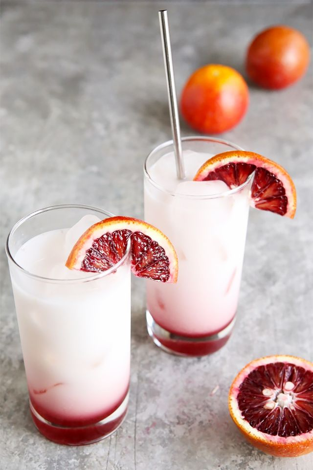Blood Orange Italian Sodas