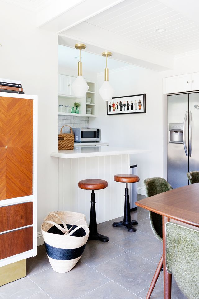 """To do so, Jacobson sought to """"create a mix of old and new that feels appropriate for the house itself yet reflects the vitality of the clients,"""" she says. """"Because my goal was to..."""