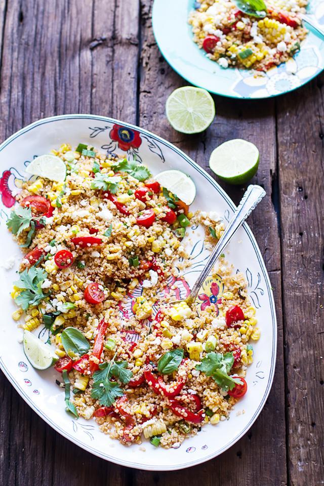 Grilled Mexican Street Corn Quinoa Salad