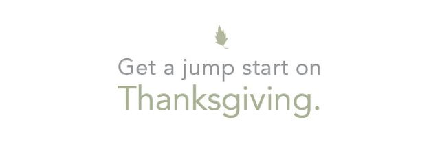 No, we don't mean it's time to start whipping up the stuffing. The beginning of a new season, especially one that ends with Thanksgiving, is a wonderful time to be grateful. Step away...